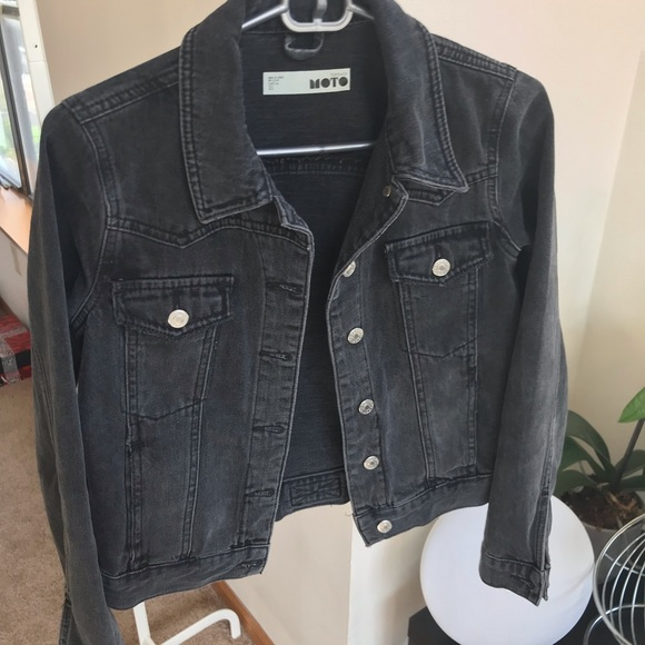cute arriving undefeated x Topshop washed black denim jacket
